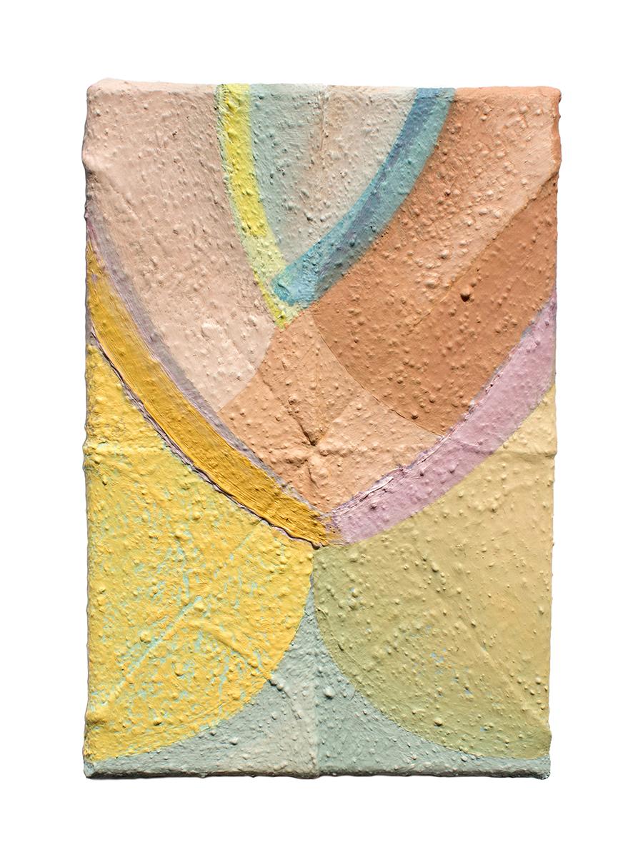 "Olg, oil on sewn canvas, 12"" x 8"", 2019"