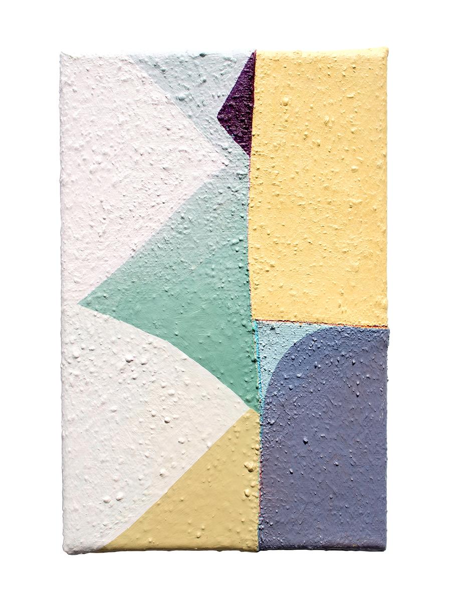 """Zon, oil on sewn canvas, 12"""" x 8"""", 2019"""