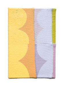 """Oscar, acrylic on sewn canvas, 12"""" x 8"""", 2018"""