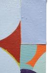 """Felice (detail), acrylic on sewn canvas, 12"""" x 8"""", 2018"""