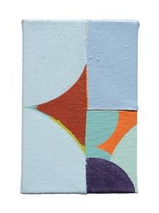 """Felice, acrylic on sewn canvas, 12"""" x 8"""", 2018"""