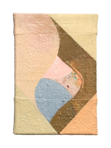 "Flavia, oil on sewn canvas, 12"" x 8"", 2019"