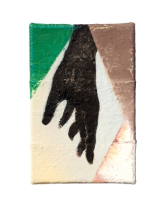 "Hand I, oil on sewn canvas, 12"" x 8"", 2020"