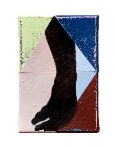 "Hand IV, oil on sewn canvas, 12"" x 8"", 2020"