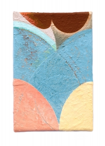 "Linda, oil on sewn canvas, 12"" x 8"", 2019"