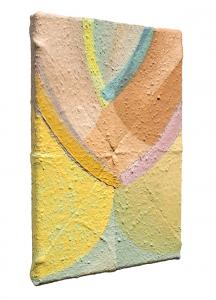 "Olga (side view), oil on sewn canvas, 12"" x 8"", 2019"