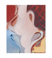 """Quatre pattes, oil on panel, 10"""" x 8"""", 2020"""