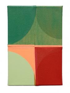 "Russ, acrylic on sewn canvas, 12"" x 8"", 2018"