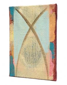 "Klas (side view), acrylic on canvas, 12"" x 8"", 2016"