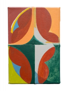 "Moberly, acrylic on sewn canvas, 12"" x 8"", 2018"