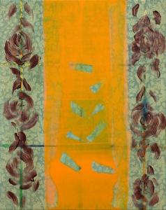 """Pat, acrylic on fabric, 20"""" x 16"""", 2015"""