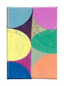 "Sprung, oil on sewn canvas, 12"" x 8"", 2021"